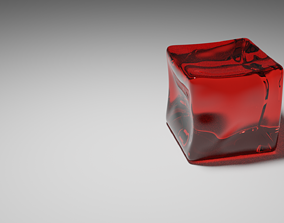 Jelly Cube 3D model animated