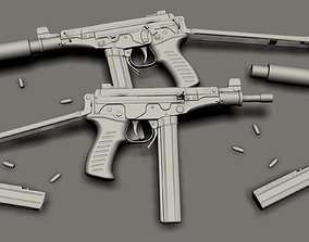3D OTs-02 Kiparis SMG High-poly