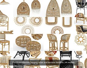 3D Furniture collection hanging rattan and bamboo