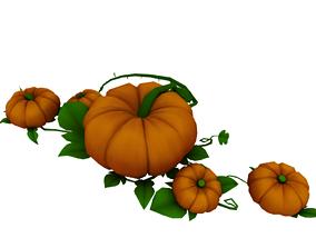 Pumpkin halloween vegetable 3D
