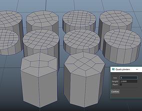 Quad Cap Cylinders 3D model