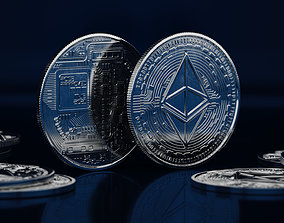 Ethereum ETH Coin 3D model