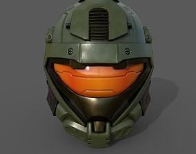 Helmet scifi military 3d model VR / AR ready