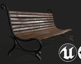 Street Bench 3D asset