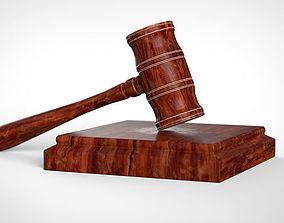 3D model Judge hammer