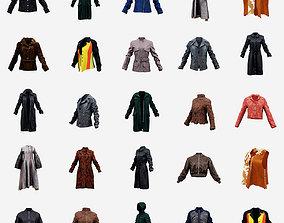 18 Jackets and Coats 3D asset