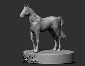 standing horse 3D print model
