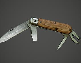 3D asset Swiss folding knife