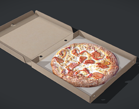 Perfect Pizza Scanned Box PBR GameReady 3D model