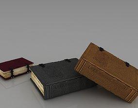paper 3D model old book