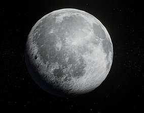 game-ready Photorealistic Moon 2k Textures 3D Model
