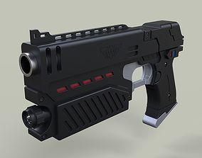 3D model Lawgiver from Judge Dredd