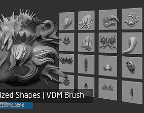 3D Zbrush - 20 Stylized Shapes VDM Brush