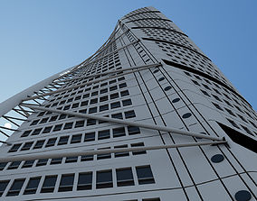 3D Turning Torso Skyscraper Building