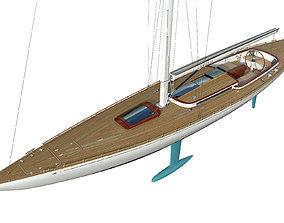 3D model Leonardo Yacht Eagle 54 boat