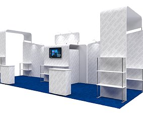tension fabric booth model 10x30ft 3DM010
