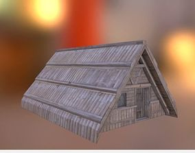 Low -poly Bamboo house 3D