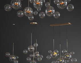 3D Giopato Coombes Chandelier glass set