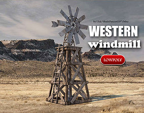 Old Windmill 3D model realtime