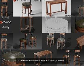 Pinnadel Bar Stool and Table 3D
