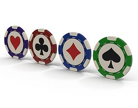 3D model Casino Chips realistic