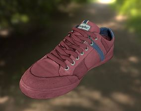 Sneaker Shoe 3D model low poly low-poly