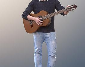 Andrew 10611 - Street Musician playing Guitar 3D asset