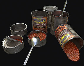 Canned Food 3D asset
