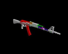AK-74 3D model low-poly