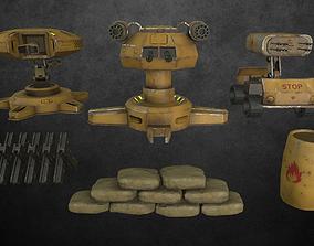 Turret defense pack 1 3D model