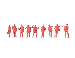 Low Poly Posed People Pack 16 - Businessman 3D model