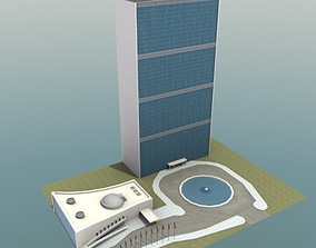 3D United Nations Building NYC