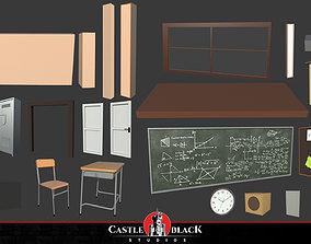 3D model Japanese School Assets