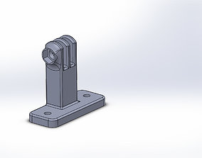 Action camera bracket 3D print model