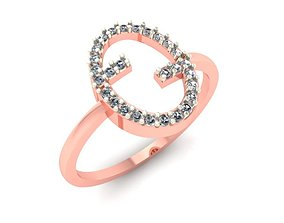 002 Gold ring for woman 3D print model