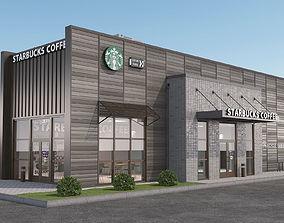 3D model Starbucks coffee shop