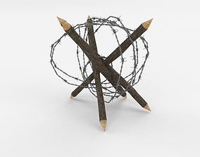Barb Wire Obstacle camp 3D