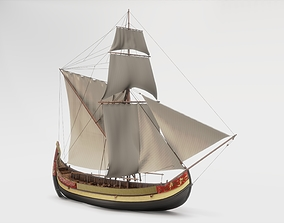 3D Ottoman coastal trade ship