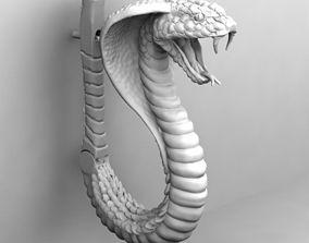 3D print model Cobra snake earing