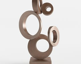 3D model Modern Decorative Abstract Copper Art Sculpture