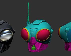Q9-0 Full Scale Wearable Helmet - 3D Print Ready STL