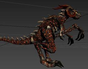 3D volcano Dragon