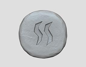 Steam Rune - Runescape - STL Keychain 3D print model