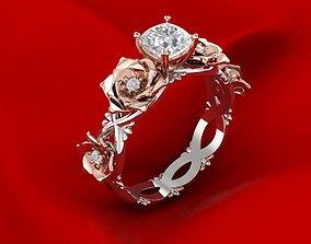 Unique Rose Ring 3D printable model