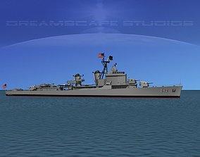 Gearing Class Destroyer DDR-842 USS Fiske 3D model