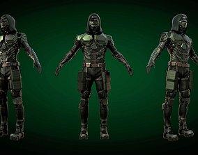 3D model Arrow armored modern Suit