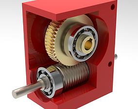 Worm gear 3D print model