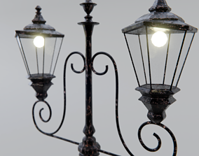 3D model Old Street Lamp Post