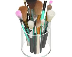 Makeup brush organizer 3D model