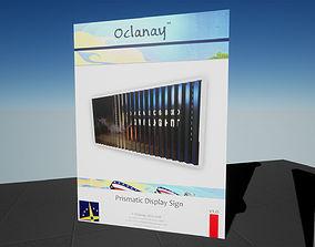 3D asset Prismatic 3-View Display Signage